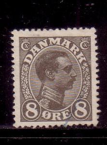 Denmark Sc 99 1920 8 ore Christian X stamp used