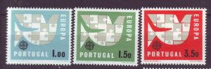 J22045 Jlstamps  1963 portugal set mh #906-8 europa