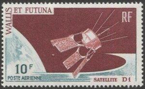 WALLIS AND FUTUNA 1966 Sc C23  MLH 10f  VF Satelite D1 Airmail