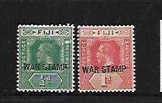 FIJI, MR1-MR2, MINT HINGED, SURCHD WAR STAMP