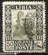 Libya; 1921: Sc. # 27: O/Used Single Stamp