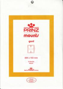 PRINZ BLACK MOUNTS 204X153 (5) RETAIL PRICE $9.50