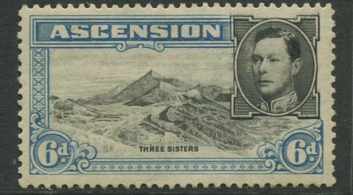 ASCENSION- Scott 45 - KGVI Definitive -1938 - MNG - Single 6d Stamp