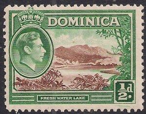 Dominica 1938 - 47 KGV1 1/2d Fresh Water Lake MM SG 99 ( F705 )