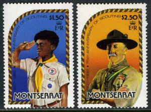 Montserrat 487-488, Mnh. Scouting Anno. Scout, Lord Boden-Powell, 1982