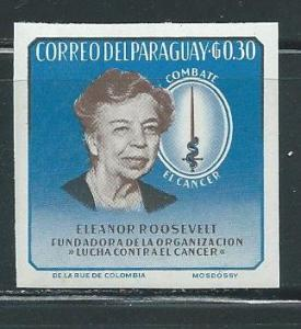 Paraguay 830 Eleanor Roosevelt single IMPERF MNH