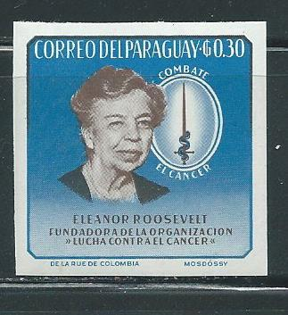 Paraguay 830 Eleanor Roosevelt single IMPERF MNH