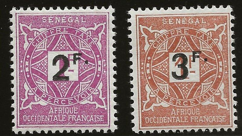 Senegal (1906)  - Scott # J20 - J21,  MH