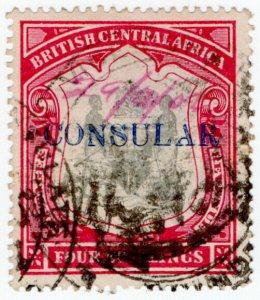 (I.B-BOB) Rhodesia/British Central Africa Revenue : Consular 4/-