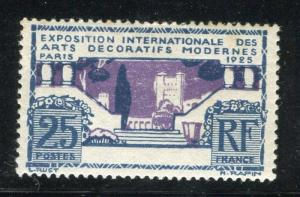 FRANCE; 1924 early Art issue fine Mint hinged 25c. value