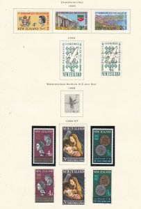 NEW ZEALAND ^^^1965-67   mint hinged  & used SETS  on page $$$@ sc604xxbza