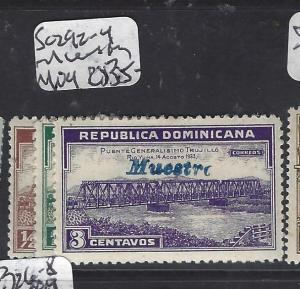 DOMINICAN REPUBLIC  (PP0910B)  SC 292-4  OVPT MUESTRA,  SPECIMEN   MOG