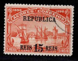 Azores Scott 142 Used surcharged Vasco da Gama stamp