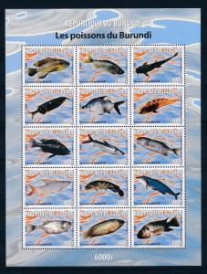 [30375] Burundi 2009 Marine Life Fish MNH Sheet