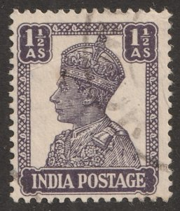 India stamp, Scott# 170A, used, hinged, single stamp, #170A