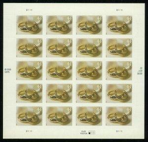 Wedding Rings Sheet of 20 44¢ Postage Stamps Scott 4397