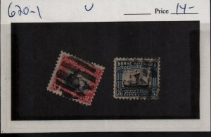 US 620-621 Used Norse American Issue