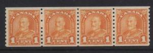 Canada #178 VF Mint Coil Strip Of Four