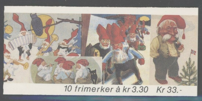 Norway 1992 33Kr Christmas Booklet Sc# 1032a NH
