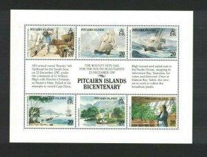 MPN7) Pitcairn Islands 1989 Bicentenary Settlement I Sheetlet MUH