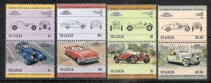 St.Lucia  653-56 MNH 1984 Classic Cars