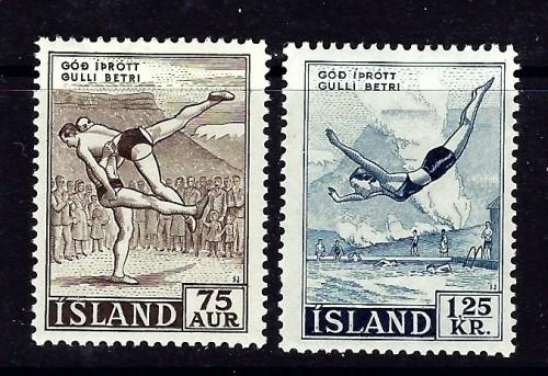 Iceland 287-88 Hinged 1955 set