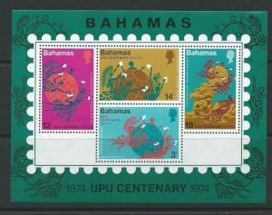BAHAMAS SGMS428 1974 CENTENARY OF UPU MNH