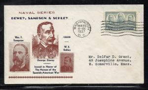 US #793-19 Army Navy Heroes Kapner cachet addressed