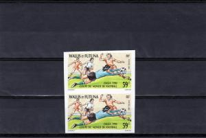 Wallis and Futuna 1990 World Cup Italy 1990 PAIR IMPERFORATED MNH VF