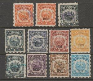 El Salvador Cinderella Fiscal Revenue Stamp 8-1-