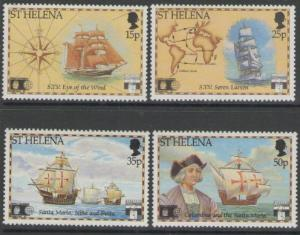 ST.HELENA SG603/6 1992 DISCOVERY OF AMERICA BY COLUMBUS MNH