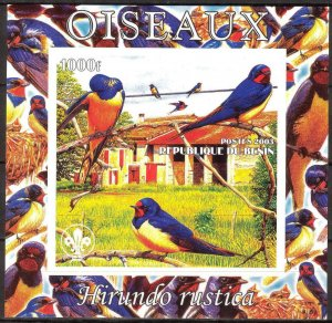 Benin 2003 Birds (3) S/S Imperf. MNH Cinderella !