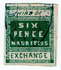 (I.B) Mauritius Revenue : Bill of Exchange 6d (Third)