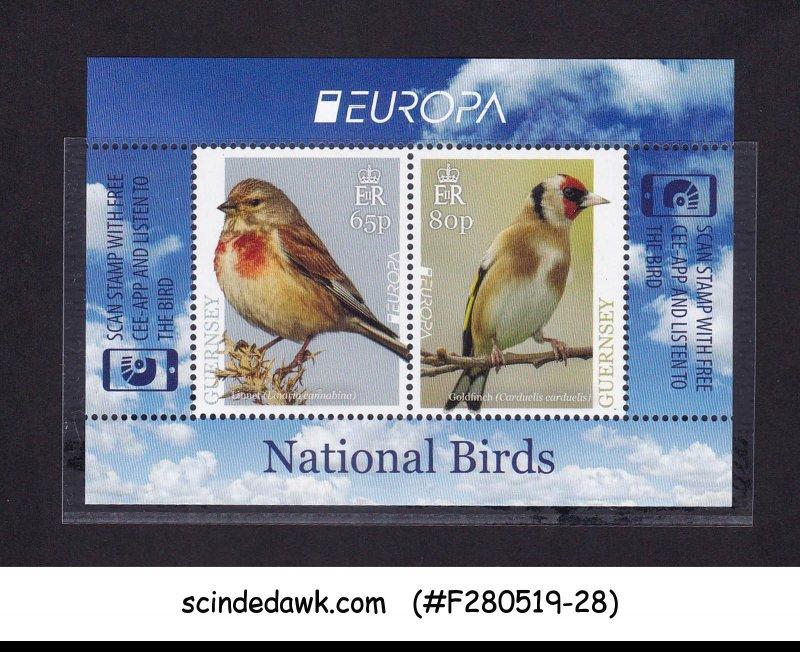 GUERNSEY - 2019 / EUROPA NATIONAL BIRDS - MIN/SHT - MINT NH