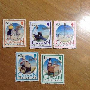 Cayman Islands  # 657-61  MNH