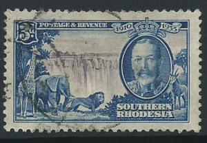Southern Rhodesia SG 33 FU