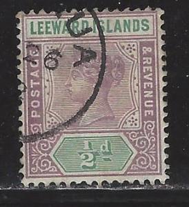 Leeward Islands Scott # 1, used