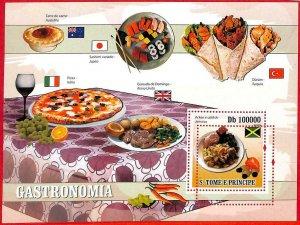 A3191- SAO TOME & PRINCIPE, ERROR MISSPERF: 2009 Gastronomia, Wine, Pizza, Flags