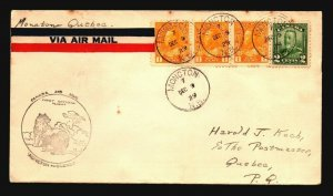 Canada 1929 FFC Moncton to Quebec - Z17524
