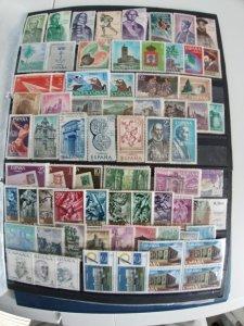 Lot Spain 71 stamps used/unused