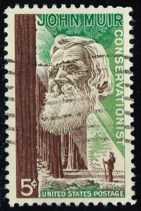 US #1245 John Muir & Redwood Forest; Used (0.25)