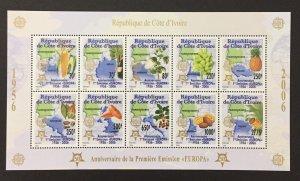 Ivory Coast 2006 #1165b S/S, Europa 50th Anniversary, MNH.