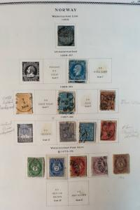 Norway 1800s to 1990s Rare Potent Century-Long Stamp Collection