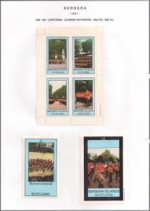 SCOTLAND - BERNERA - 1981 - Guards on Parade - 4v Perf. Min, D/L Sheets - MLH