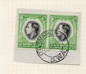 South West Africa 1937 Early Issue Fine Used 1/2d. Postmark Piece 280390