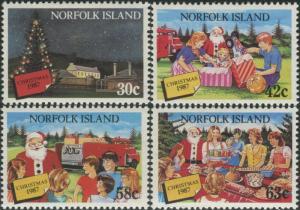 Norfolk Island 1987 SG429-432 Christmas santa set MNH