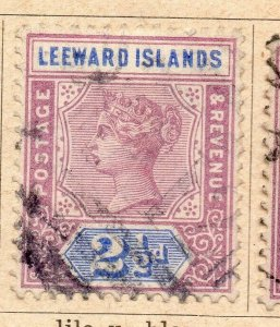 Leeward Islands 1891 Early Issue Fine Used 2.5d. NW-11896