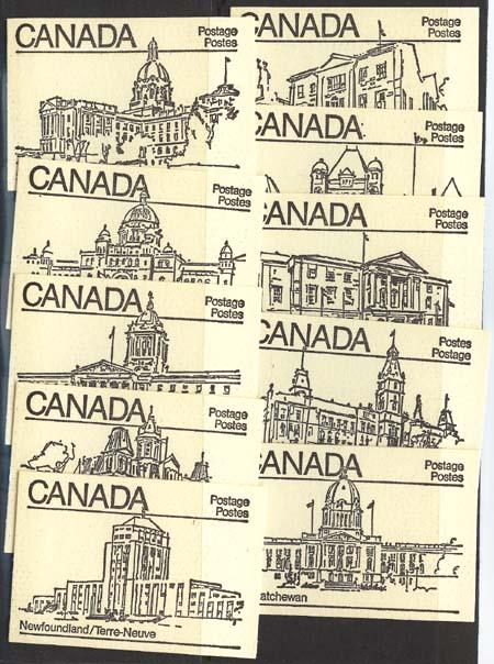Canada - 1982 Maple Leaf Booklets Set of 10 #BK82a