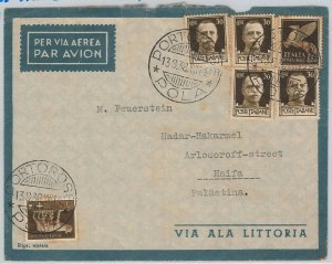 47726  - ITALIA REGNO - Storia Postale: BUSTA  da POLA  a HAIFA Palestina - 1938
