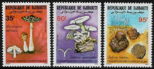 Djibouti #625-7 MNH Set - Mushrooms